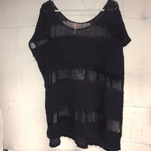 Oversized Free People Lace Top